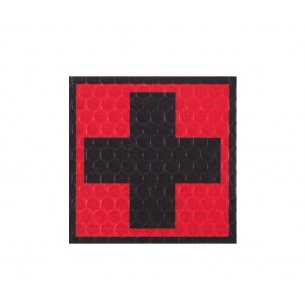 Combat-ID Velcro patch - Cross - Red-Black (F1-RED/BLK)