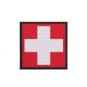 Combat-ID Velcro patch - Cross - Red-White (F1-RED/WHT)