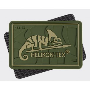 HELIKON-TEX Logo Velcro patch - PVC - Olive Green
