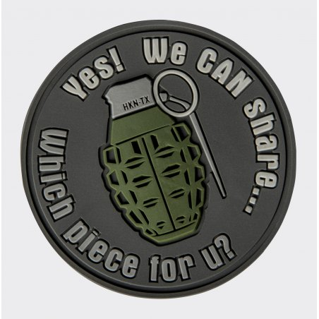 Helikon-Tex® WE CAN SHARE Grenade Velcro patch - PVC - Grey