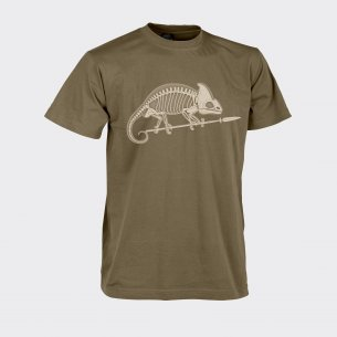 CHAMELEON SKELETON Classic Army T-shirt - Cotton - Coyote / Tan