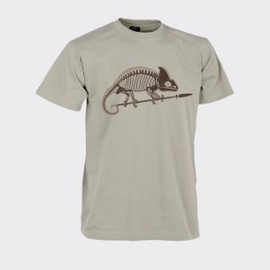 CHAMELEON SKELETON Classic Army T-shirt - Cotton - Beige / Khaki