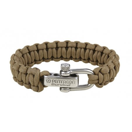 Pentagon Tactical Survival Bracelet - Coyote / Tan
