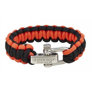 Pentagon Tactical Survival Bracelet - Orange-Black