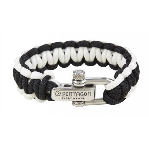Pentagon Tactical Survival Bracelet - Black-White