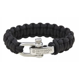 Pentagon Tactical Survival Bracelet - Black