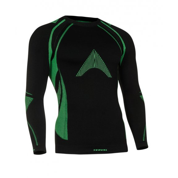 Tervel OPTILINE Men's long sleeve shirt (OPT 1002) - Black / Green