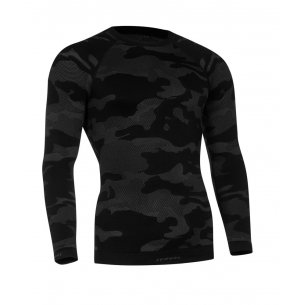 Tervel OPTILINE TACTICAL Men's long sleeve shirt (OPT 1003) - Black / Grey