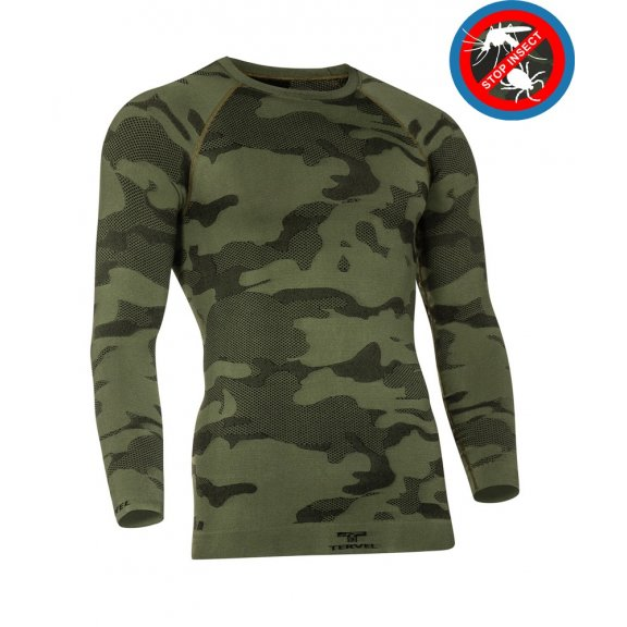 Tervel OPTILINE LIGHT TACTICAL Shirt (OPT L1003) - Stop insect - Military / Black