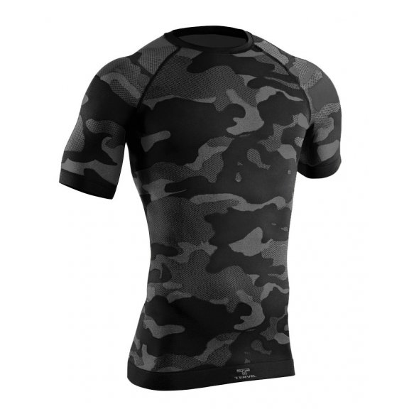 Tervel OPTILINE TACTICAL Men's short sleeve shirt (OPT L1103) - Black / Grey