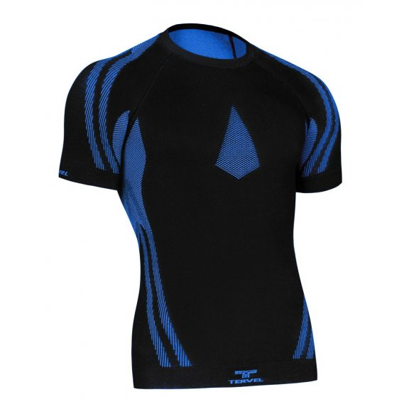 Tervel OPTILINE Men's short sleeve shirt (OPT L1102) - Black / Blue