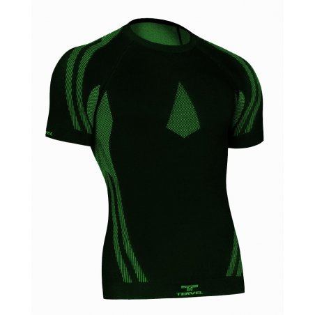 Tervel OPTILINE Men's short sleeve shirt (OPT L1102) - Black / Green