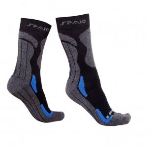 Trekking socks COOLMAX  -  Black / Blue