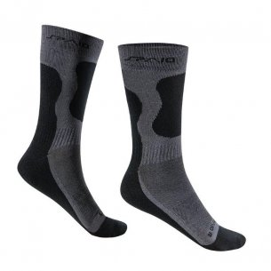Trekking socks BAMBOO -  Black / Grey