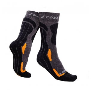 Trekking socks COOLMAX  -  Grey / Orange