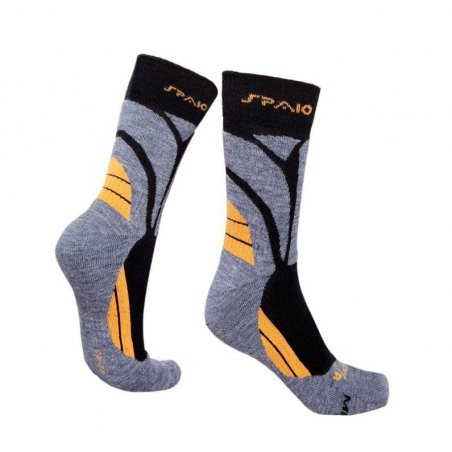 Spaio Trekking socks MERINO WOOL - Grey / Orange