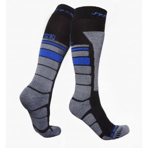 Spaio Thermo Ski socks THERMOLITE - Black / Grey / Blue