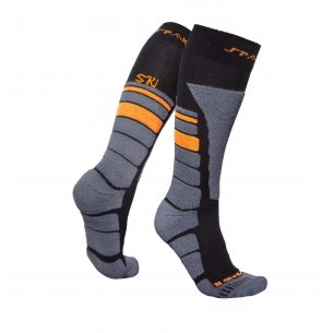 Spaio Thermo Ski Socks THERMOLITE - Black / Grey / Orange