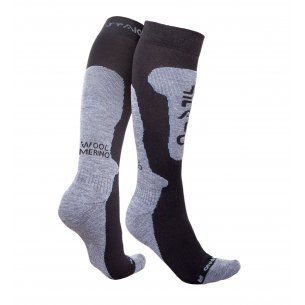 Spaio Thermo Ski skarpety MERINO - Black / Grey