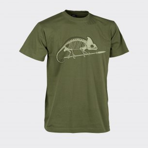 CHAMELEON SKELETON Classic Army T-shirt - Cotton - U.S. Green