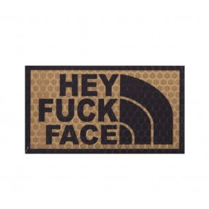 Combat-ID Velcro patch -Hey Fuck Face (HFF-TAN) - Desert