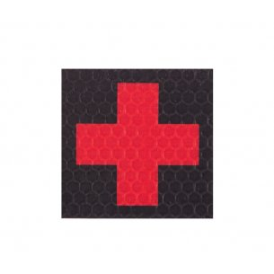 Velcro patch - Cross - Black-Red (F1-BLK/RED)