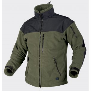 CLASSIC ARMY Fleece jacket - Windblocker - Olive Green / Black