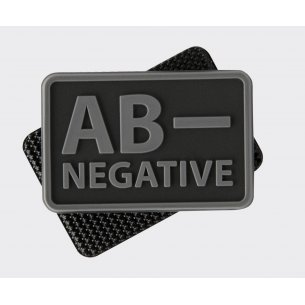 Blood type PVC velcro patch - Black