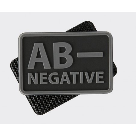 Helikon-Tex® Blood type PVC velcro patch - Black