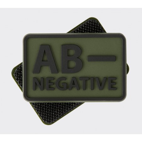 Blood type PVC velcro patch - Olive Green