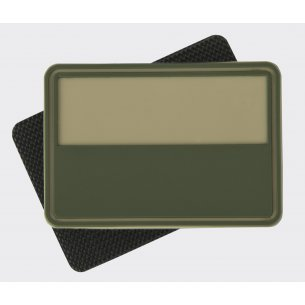Helikon-Tex® Polish flag PVC velcro patch ( Subdued ) - Beige / Khaki