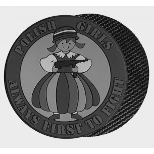 POLISH GIRLS Patch - PVC - Grey
