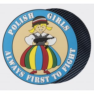 Emblemat POLISH GIRLS - PVC - Niebieski