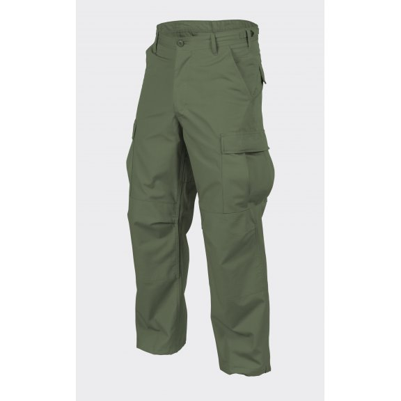 BDU (Battle Dress Uniform) Trousers / Pants - Cotton Ripstop - Olive Green