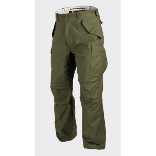 Spodnie US ARMY MILITARY M65 - Nyco Sateen - Olive Green