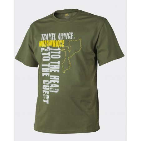 Helikon-Tex® T-Shirt (Travel Advice: Mozambique) - Bawełna - U.S. Green