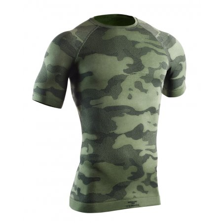 OPTILINE Men's short sleeve shirt (OPT 1103) - Military / Grey