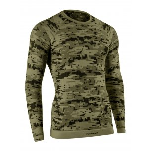 Tervel OPTILINE DIGITAL Men's long sleeve shirt (OPT 1005) - Military / Grey