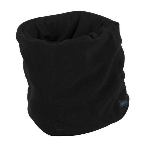 Winter Neck Scarf 1/2 Fleece  - Black