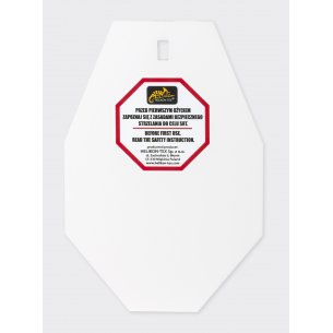 Helikon-Tex® SRT Small ALPHA Target - Hardox 600 Steel - White