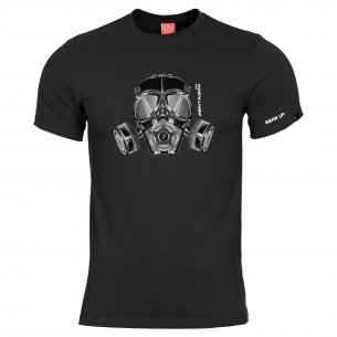 Pentagon AGERON T-shirts - Gas Mask - Black