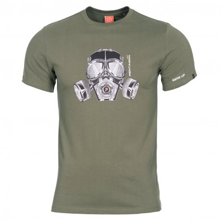 T-shirt AGERON - Gas Mask - Olive