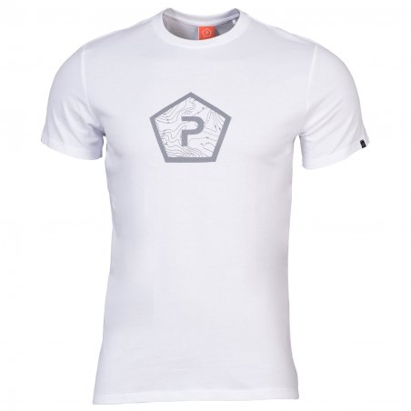 AGERON T-shirts - Pentagon Shape - White