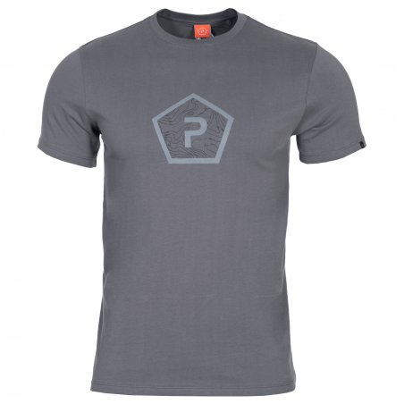 T-shirt AGERON - Pentagon Shape - Wolf Grey
