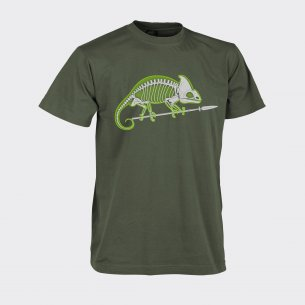 CHAMELEON SKELETON Classic Army T-shirt - Cotton - Olive Green