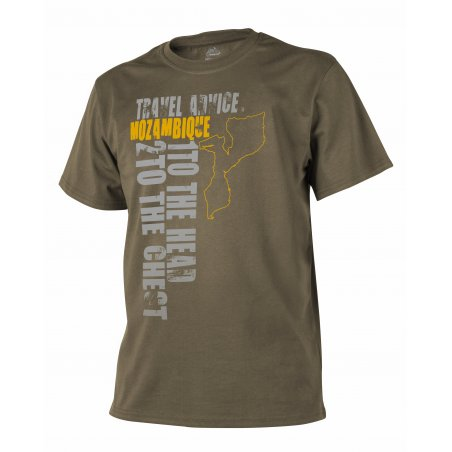 Helikon-Tex® T-Shirt (Travel Advice: Mozambique) - Bawełna - Coyote